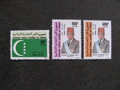 Comores: TB Série De Services N° 7 Au N° 9, Neufs XX. GT. - Comores (1975-...)