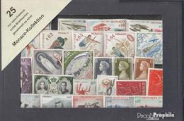 Monaco 25 Verschiedene Marken Postfrisch - Lots & Serien