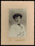 Photo 14.5 X 10.5 - Portrait D'une Femme Espagnole Par Vallet De Montano à Bilbao En 1904 --- Del016b - Identified Persons