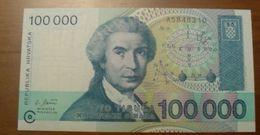 1993 - Croatie - Croatia - 100000 DINARS - A5848310 - Croatia