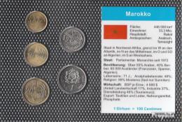 Marokko 2002 Stgl./unzirkuliert Kursmünzen Stgl./unzirkuliert 2002 5 Centimes Bis 1 Dirham - Marokko