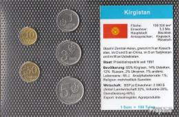 Kirgisistan 2008 Stgl./unzirkuliert Kursmünzen Stgl./unzirkuliert 2008 10 Tyiyn Bis 5 Som - Kirghizistan