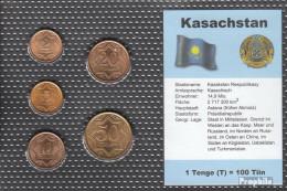 Kasachstan 1993 Stgl./unzirkuliert Kursmünzen 1993 2 Tiin Bis 50 Tiin - Kazakhstan