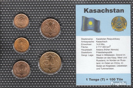 Kasachstan 1993 Stgl./unzirkuliert Kursmünzen Stgl./unzirkuliert 1993 2 Tiin Bis 50 Tiin - Kasachstan