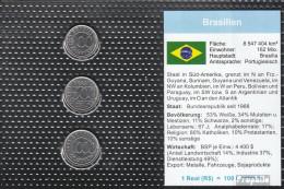 Brasilien Stgl./unzirkuliert Kursmünzen Stgl./unzirkuliert 1992-1993 100 Cruseiros Bis 1000 Cruseir - Brasilien