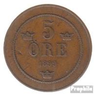Schweden KM-Nr. : 757 1899 Sehr Schön Bronze Sehr Schön 1899 5 Öre Gekröntes Monogramm - Schweden