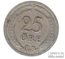 Schweden KM-Nr. : 798 1940 Sehr Schön Nickel-Bronze Sehr Schön 1940 25 Öre Gekröntes Monogramm - Schweden