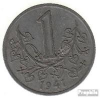 Böhmen Und Mähren Jägernr: 623 1944 Vorzüglich Zink Vorzüglich 1944 1 Krone Wappenlöwe - [ 4] 1933-1945 : Third Reich