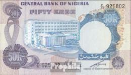 Nigeria Pick-Nr: 14f Bankfrisch 1973 50 Kobo - Nigeria