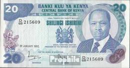 Kenia Pick-Nr: 21b Bankfrisch 1982 20 Shillings - Kenia