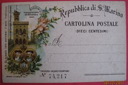 SAN MARINO CARTOLINA POSTALE 1894 - Saint-Marin
