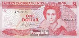 Vereinte Karibische Staaten Pick-Nr: 17a, Suffix Letter A Bankfrisch 1985 1 Dollar - Ostkaribik