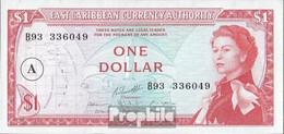 Vereinte Karibische Staaten Pick-Nr: 13h, Overprint: A Bankfrisch 1965 1 Dollar - Ostkaribik