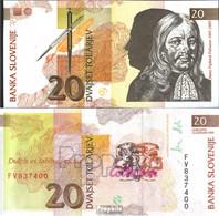 Slowenien Pick-Nr: 12a Bankfrisch 1992 20 Tolarjev - Slowenien