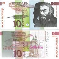 Slowenien Pick-Nr: 11a Bankfrisch 1992 10 Tolarjev - Slowenien