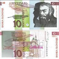 Slowenien Pick-Nr: 11a Bankfrisch 1992 10 Tolarjev - Slovenia