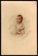 Photo 16.5 X 11 - Bébé Assis En Studio Années 1920 --- Del019b - Anonymous Persons