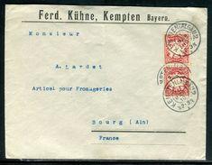 Allemagne - Enveloppe Commerciale De Kempten Pour La France En 1910 - Ref D68 - Allemagne