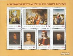 Ungarn Block170A (kompl.Ausg.) Postfrisch 1984 Gestohlene Gemälde - Hojas Bloque