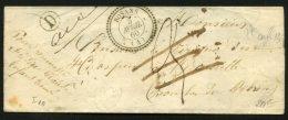 HAUTES ALPES: Pli De 1860 En Port Du + CàD Type 22 De ROSANS + Boite D  > MARSEILLE + Refusée - Marcophilie (Lettres)