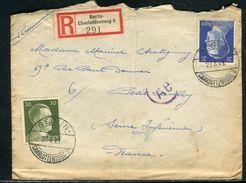 Allemagne - Enveloppe En Recommandé De Berlin Pour La France En 1943 - Ref D74 - Briefe U. Dokumente