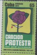MUSIC , 2017, MNH, 50TH ANNIVERSARY OF  PROTEST SONG,  CANCIÓN PROTESTA, 1v - Music