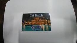 Israel-hotey Key-(461)-GAI Beach-hotals-(b)-(looking Out Side)-used+1card Prepiad Free - Hotelkarten