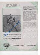 Prospectus Doc Pub Agricole HUARD Pour Tracteur FERGUSON   Charrues Portées Réversibles - Agriculture