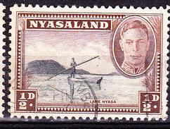 Nyassaland -  König Georg VI.; Nyassasee (MiNr: 70) 1945 - Gest Used Obl - Nyassaland (1907-1953)