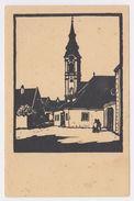 AUSTRIA Illustrator LEOPOLD SCHEIDL Stockerau Buildings SECCESION ART Style PC CPA - Stockerau