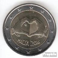 Malta 2016 Stgl./unzirkuliert Auflage: 380.000 Stgl./unzirkuliert 2016 2 Euro Solidarität Durch Liebe - Malta