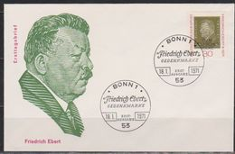 BRD FDC 1971 Nr.659  100.Geb. Friedrich Ebert (d 4391 ) Günstige Versandkosten - FDC: Covers