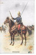"MILITARIA (14-18) TRES BELLE CPA ""NOTRE DRAGON FRANCAIS ?"" (CHEVAL) SUPERBE - Guerre 1914-18"