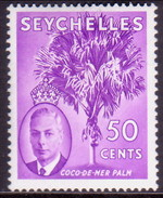 SEYCHELLES 1952 SG #167 50c MLH - Seychelles (...-1976)