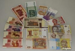 Osteuropa 15 Verschiedene Banknoten Bankfrisch Osteuropa - Banknoten