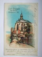 GERMANIA DEUTSCHLAND HOCHHEIM A. M. Carl Graeger Sekt Kellerei Wein Wine  AK Postcard - Hochheim A. Main