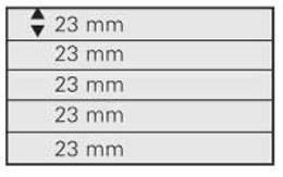 SAFE 745 PA Einsteckkarte 5 Streifen Per 10 - Stock Sheets