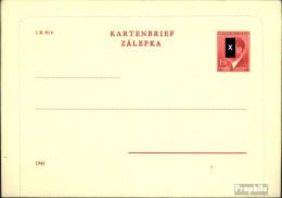 Böhmen Und Mähren K4II A Amtlicher Kartenbrief Ungebraucht 1942 Hitler - Böhmen Und Mähren