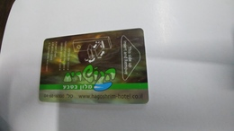 Israel-hotey Key-(477)-hagoshrim Hotal-(looking Out Side)-used+1card Prepiad Free - Hotelkarten
