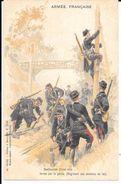 """MILITARIA (14-18) TRES BELLE CPA """"ARMéE FRANçAISE :DESTRUCTION D'UNE VOIE FéRRéE PAR LE GéNIE """"SUPERBE - Guerra 1914-18"""