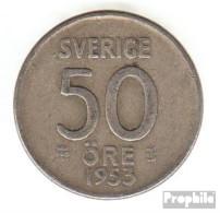 Schweden KM-Nr. : 825 1953 Sehr Schön Silber Sehr Schön 1953 50 Öre Krone - Schweden