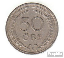 Schweden KM-Nr. : 796 1946 Sehr Schön Nickel-Bronze Sehr Schön 1946 50 Öre Gekröntes Monogramm - Schweden