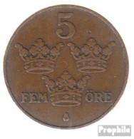 Schweden KM-Nr. : 779 1914 Sehr Schön Bronze Sehr Schön 1914 5 Öre Gekröntes Monogramm - Schweden