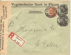 Deutschland, 1921,R-Brief Plauen Nach Schweiz, Zensur, Siehe Scans! - Germany