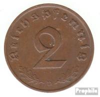 Deutsches Reich Jägernr: 362 1938 D Vorzüglich Bronze Vorzüglich 1938 2 Reichspfennig Reichsadler - [ 4] 1933-1945 : Third Reich