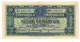 Mozambique 20 Centavos, 1933, UNC. - Mozambique