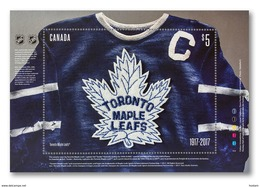 CANADA 2017, TORONTO MAPLE LEAFS 100th ANNIVERSARY,  SHEETLET  5.00$ - Blocs-feuillets