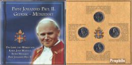 Kongo (Kinshasa) Gedenkfolder Papst Joh. Paul II. Limitierte Auflage! Stempelglanz Stgl./unzirkuliert 2004 Kursmünzensa - Münzen