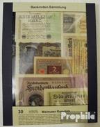 Deutsches Reich 30 Verschiedene Banknoten  Weimarer Republik - [ 4] 1933-1945 : Terzo  Reich