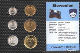 Slowenien Stgl./unzirkuliert Kursmünzen Stgl./unzirkuliert 1992-2004 10 Stotin Bis 5 Tolar - Slowenien